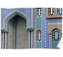 Colorful mosaic facade from mosque. Poster