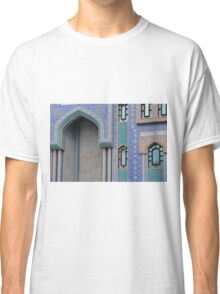 Colorful mosaic facade from mosque. Classic T-Shirt