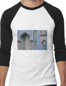 Colorful mosaic facade from mosque. Men's Baseball ¾ T-Shirt