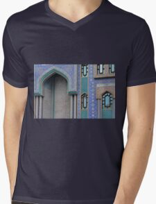 Colorful mosaic facade from mosque. Mens V-Neck T-Shirt