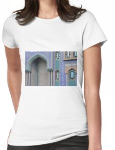 Colorful mosaic facade from mosque. Womens Fitted T-Shirt
