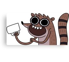 Rigby with COOFE! Canvas Print