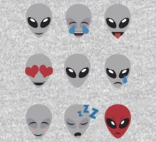 Space Alien Emoticons  One Piece - Long Sleeve