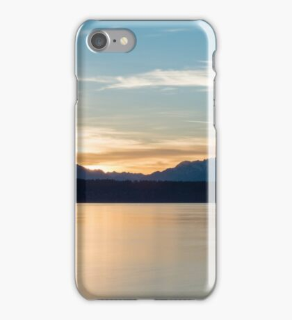 Sunset above the Olympic Mountains iPhone Case/Skin
