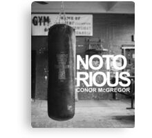 notorious MMA Canvas Print