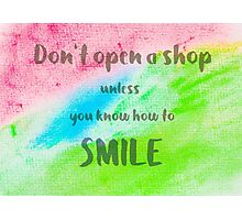 Inspirational abstract water color background Photographic Print