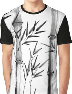 Black and white bamboo forest Graphic T-Shirt