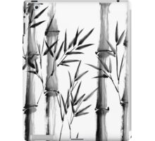 Black and white bamboo forest iPad Case/Skin