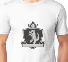 Gator Standing Side Coat of Arms Crest Retro Unisex T-Shirt