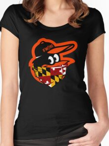 GANGSTER BIRD ( BASEBALL PARODY ) Women's Fitted Scoop T-Shirt