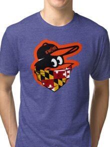 GANGSTER BIRD ( BASEBALL PARODY ) Tri-blend T-Shirt