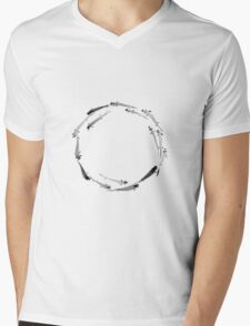 Sumi ink fishes enso Mens V-Neck T-Shirt