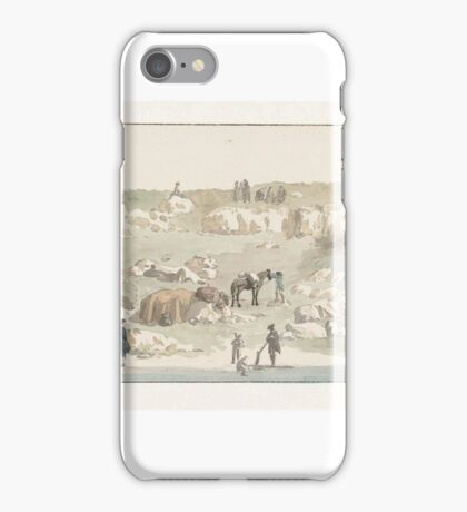 View of the small port of Luogo Vivo on the route San Vito, Louis Ducros iPhone Case/Skin