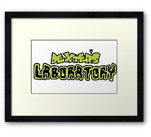 Dexters Labratory Logo Framed Print