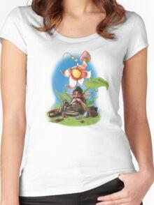 Smokin´ Dwarf Women's Fitted Scoop T-Shirt