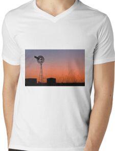 Oakey Sunset  - Qld Australia Mens V-Neck T-Shirt