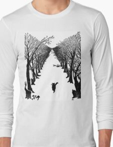 The Cat Who Walks By Himself Long Sleeve T-Shirt