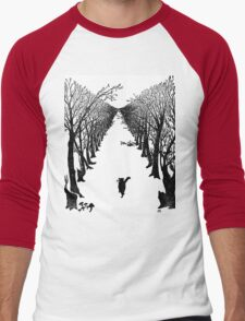 The Cat Who Walks By Himself Men's Baseball ¾ T-Shirt