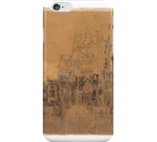 Walter Richard Sickert,   , Dieppe, Study No. 2; Facade of St Jacques iPhone Case/Skin