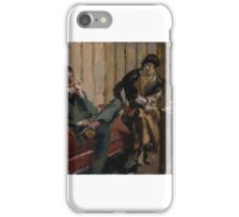 Walter Richard Sickert,   The Little Tea Party, Nina Hamnett and Roald Kristian  iPhone Case/Skin