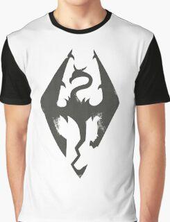 Skyrim Grunge Graphic T-Shirt