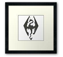 Skyrim Grunge Framed Print