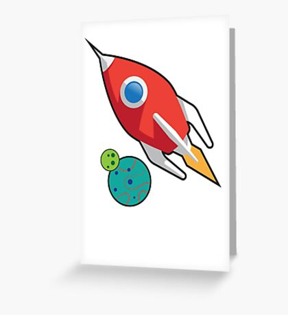 Rocket on the go Greeting Card
