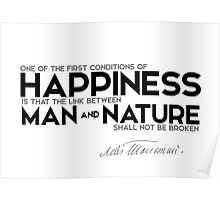 happiness: man and nature - leo tolstoy Poster