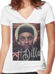 J Dilla - Jmadera print Women's Fitted V-Neck T-Shirt