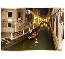 Impressions of Venice - Gliding Towards the Gold Poster