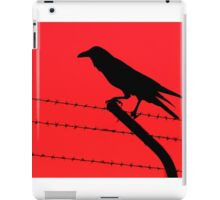 Barbed Wire Crow iPad Case/Skin