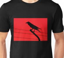 Barbed Wire Crow Unisex T-Shirt