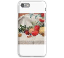 William Bell Scott - Study of Flowers and Fruit  iPhone Case/Skin