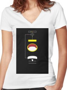 The Black Stuff Women's Fitted V-Neck T-Shirt
