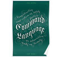 Command of Language Poster