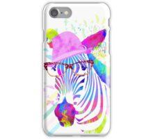Funky neon zebra iPhone Case/Skin