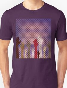 Hands Behind a Wire Fence T-Shirt