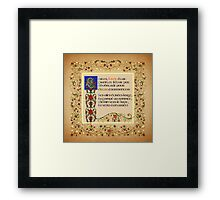 The Urn was tall no doubt - French Version Framed Print