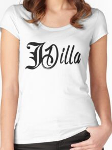 J Dilla - imperial print Women's Fitted Scoop T-Shirt