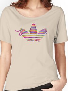 color stripes Women's Relaxed Fit T-Shirt