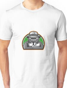 Mobster Car Grille Face Arms Folded Front Retro Unisex T-Shirt