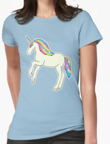 Pansexual Pride Unicorn Womens Fitted T-Shirt