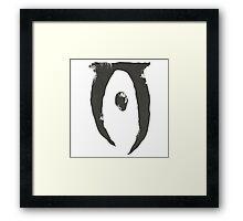 Oblivion grunge Framed Print