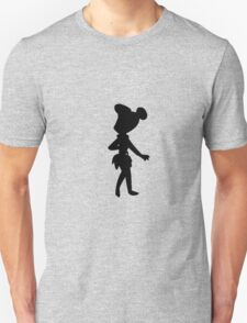 Cartoon silhouettes - Flintstone - Transparent background Unisex T-Shirt