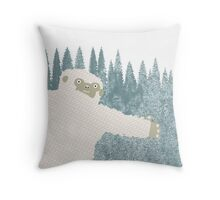 Yeti Hug Throw Pillow