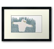 Yeti Hug Framed Print