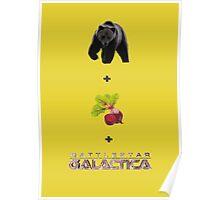 Baers + Beets + Battlestar Galactica (Colour) Poster