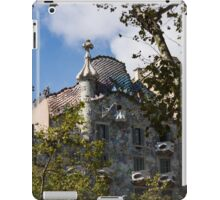 Antoni Gaudi's Casa Batllo Through Sycamore Trees iPad Case/Skin