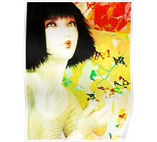 Maiko and Butterlies Poster