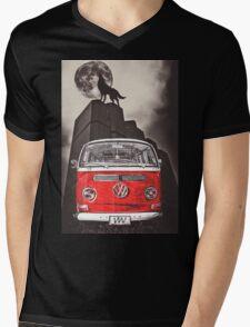 VW WOLF Mens V-Neck T-Shirt